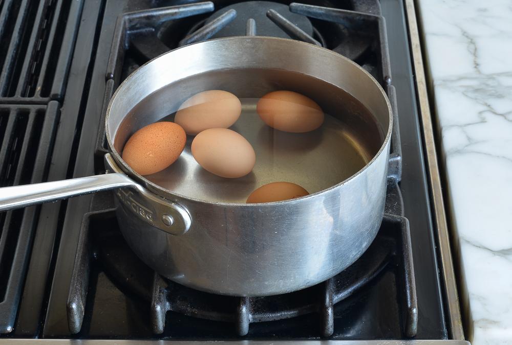 eggs in pot